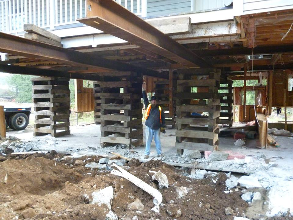 Belton Bros house raising in winter with owner Cory Belton