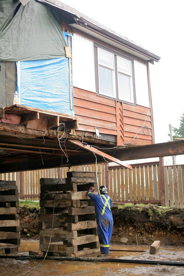 Belton Bros Crofton BC raising a house