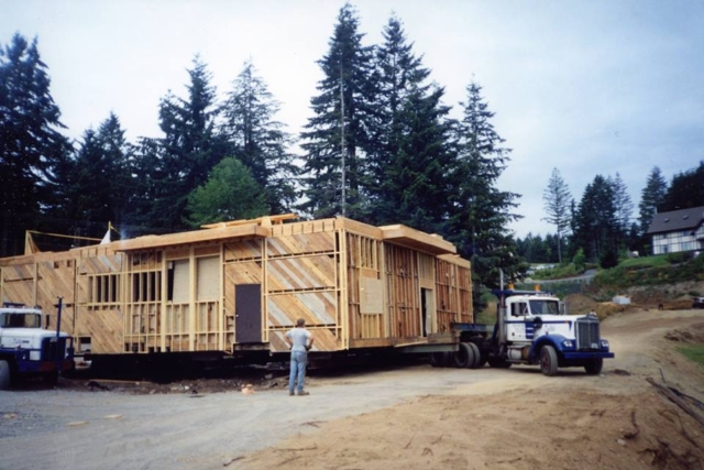 Moving a structure from Shawnigan Lake School