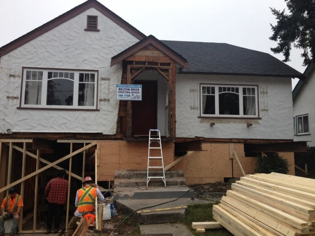 Belton Bros moving a house Victoria BC