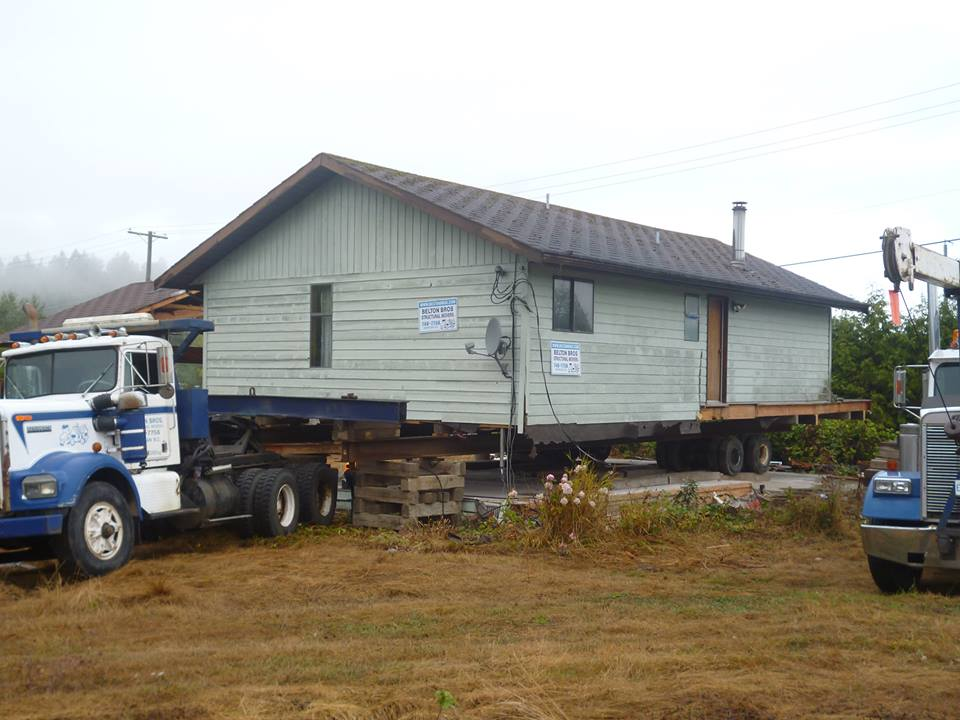 moving an old home on Vancouver Island